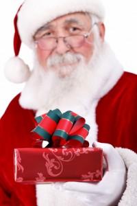 Weihnachtsmann, Weihnachtsfeier Bescherung